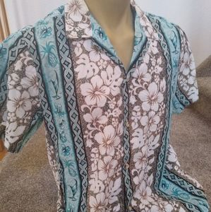 Vintage Aloha Republic Cotton Hawaiian Shirt XL